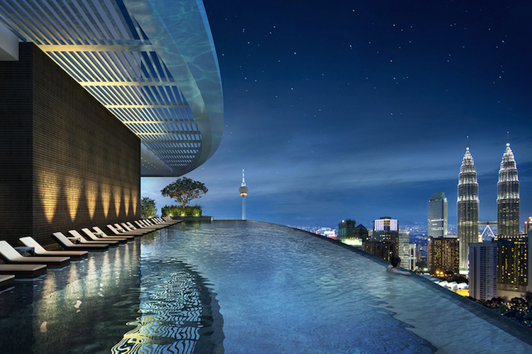 Rendering of rooftop infinity pool at Eaton Residences - EDGEPROP SINGAPORE
