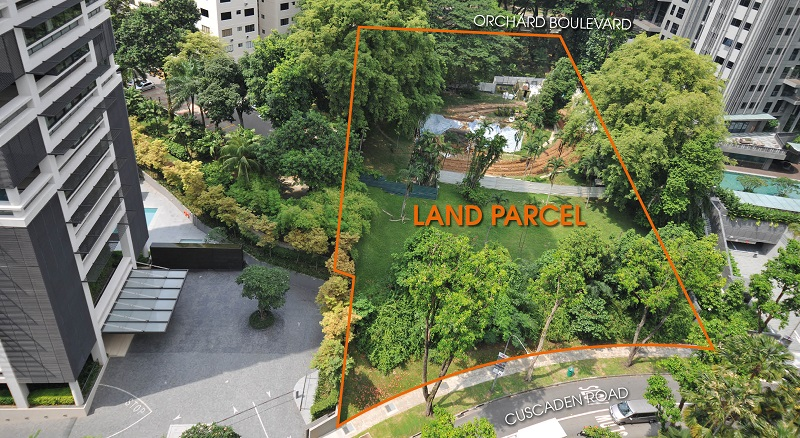 Aerial view of the Cuscaden Road site - EDGEPROP SINGAPORE