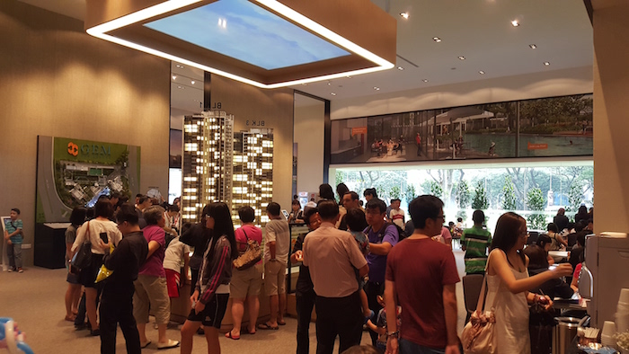 Visitors at GEM Residences' show gallery