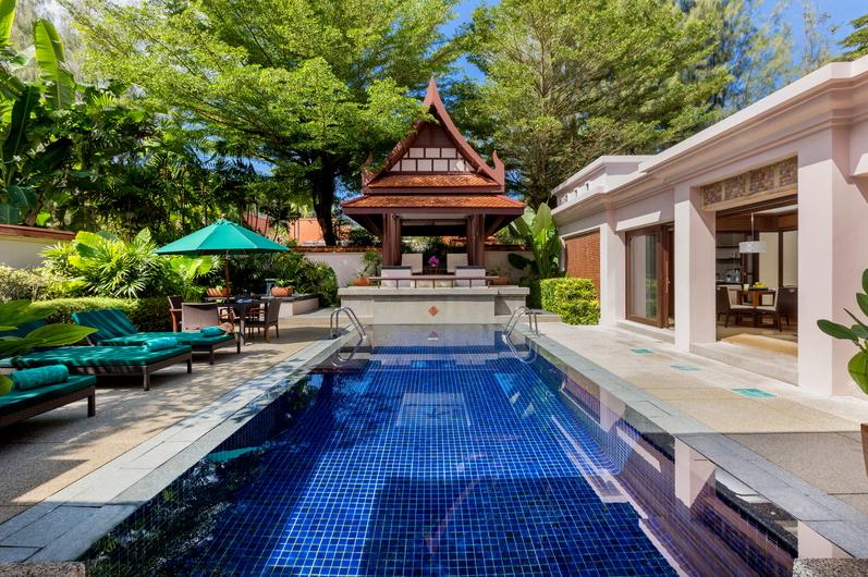 A room at Banyan Tree Phuket, swimming pool in foreground