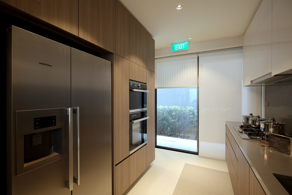 The wet kitchen within the show house at Phase 1 of Nim Collection