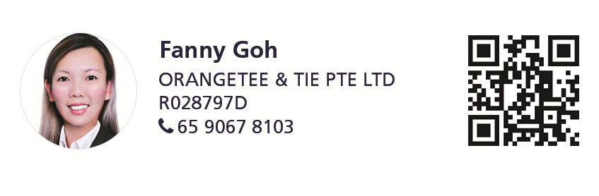 Marketing agent photograph and contact details (Fanny Goh | 65 9067 8103)