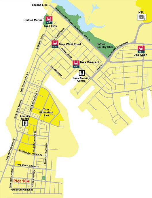 Map of Tuas South Link 3 (Plot 16) - EDGEPROP SINGAPORE