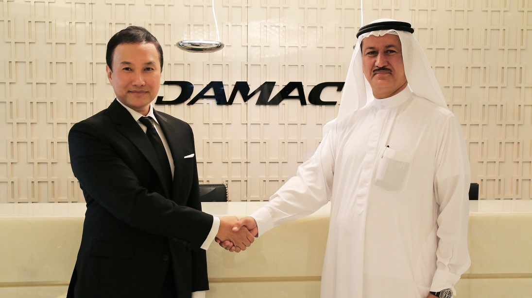 Glen Chan, CEO and managing director of Pacific Star Development, with Hussain Sajwani, chairman of DAMAC International