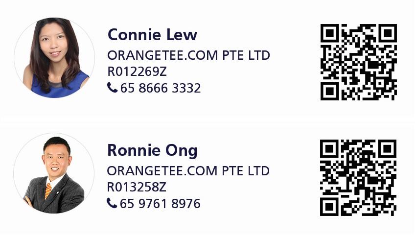 Agent Contact Details: Connie Lew (OrangeTee.com Pte Ltd) | R012269Z | 8666 3332; Ronnie Ong (OrangeTee.com Pte Ltd) | R013258Z | 9761 8976