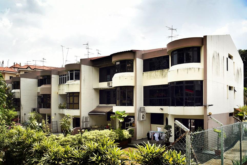 Exterior of terraced houses at Seraya Crescent - EDGEPROP SINGAPORE