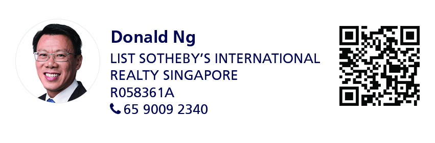 Details of marketing agent Donald Ng (List Sotheby's International Realty Singapore | R058361A | 65 90092340)
