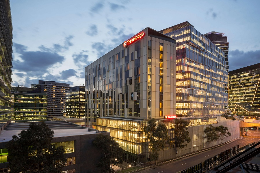 Exterior shot of Travelodge Hotel Melbourne Docklands in Melbourne - EDGEPROP SINGAPORE