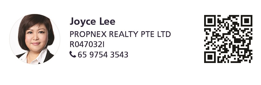 Marketing agent photograph and contact details (Joyce Lee | PropNex Realty | R047032I | 65 9754 3543) - EDGEPROP SINGAPORE