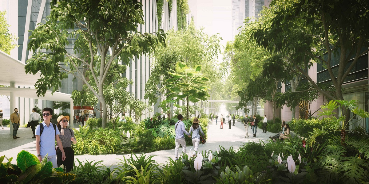Market Street partially converted into a 12,500-sq-ft public park