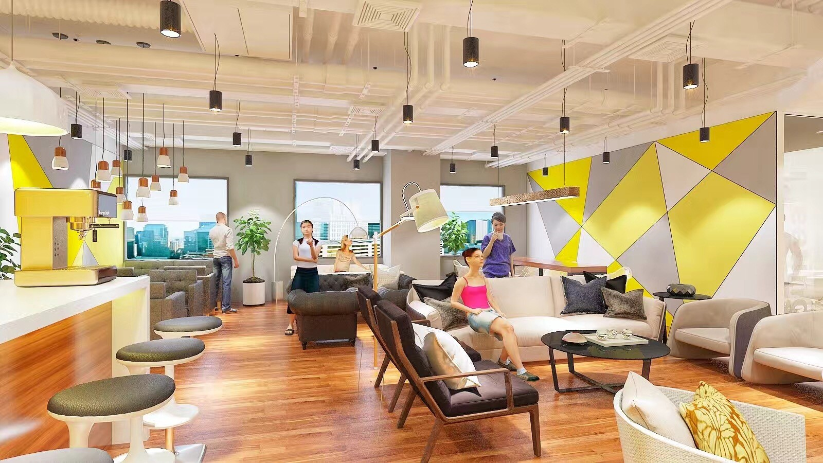 Artist's impression of Ucommune's upcoming co-working space at Suntec City