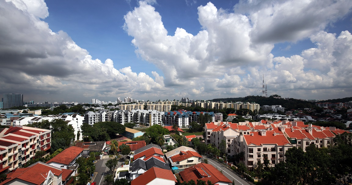 High-angle shot of Toh Tuck Road residential area