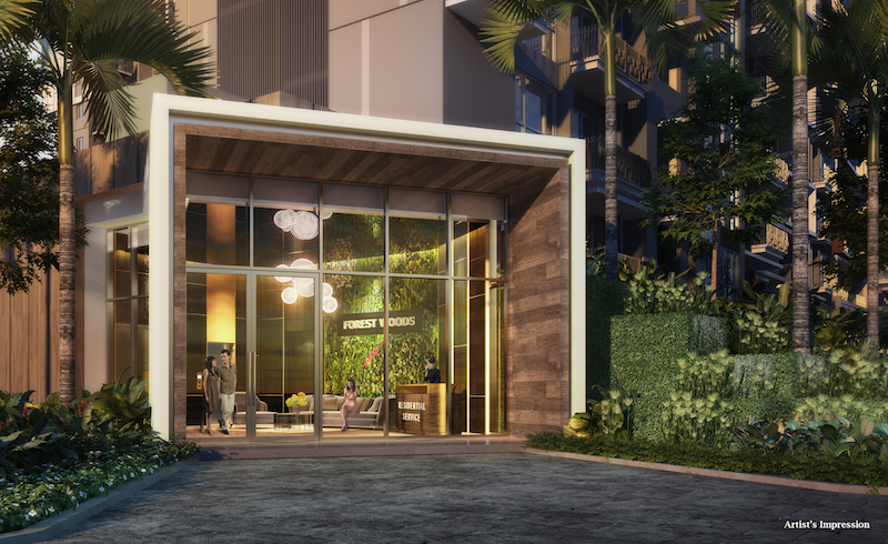 The Welcome Lobby houses a WiFi lounge, an amenity that makes Forest Woods stand out in the mass-market segment