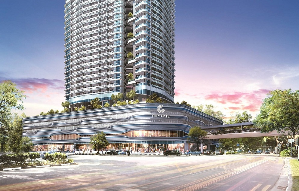 Artist's impression of the facade of CityGate