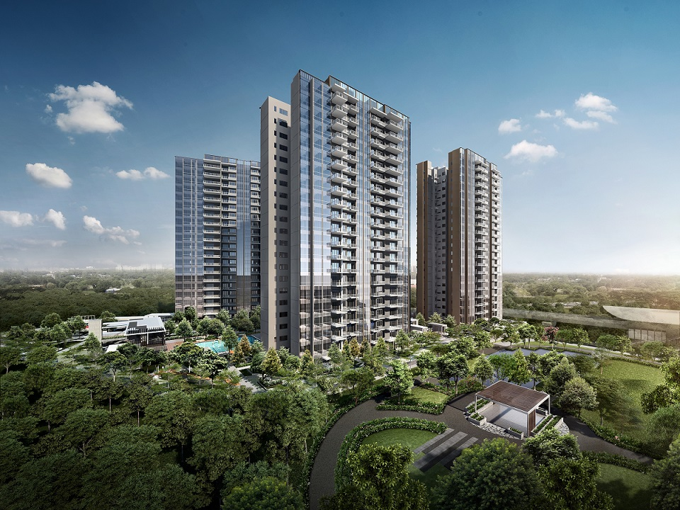 Artist's impression of the 735-unit Parc Botannia, comprising four 22-storey towers on a 185,085 sq ft site - EDGEPROP SINGAPORE