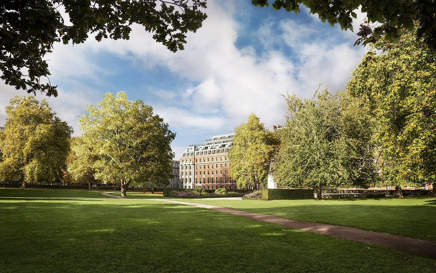 Apartments at Twenty Grosvenor Square will have views of Grosvenor Square, the largest garden square in Mayfair district