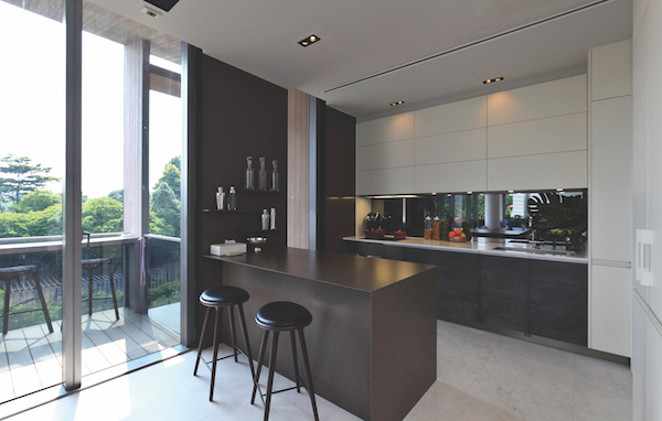 PENTHOUSE - The kitchen has an engineered stone countertop and Gaggenau appliances - EDGEPROP SINGAPORE
