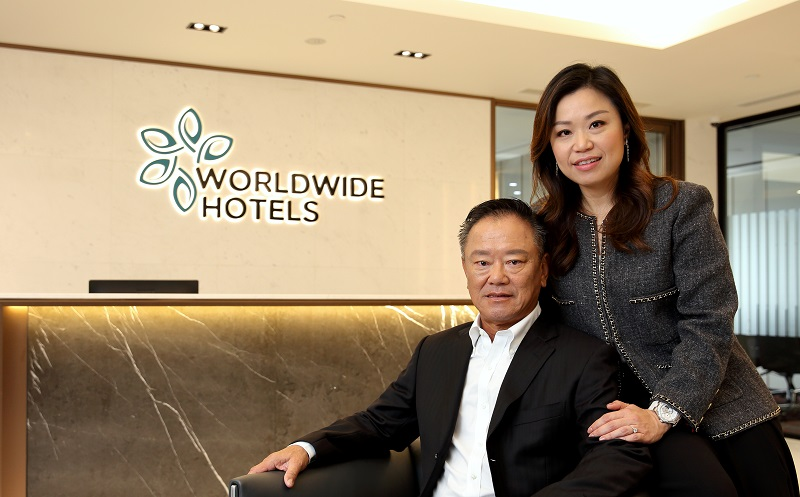 WORLDWIDE HOTELS - Choo Chong Ngen, chairman of Worldwide Hotels, and his daughter, Carolyn Choo, who is the group's managing director and CEO (Picture: Samuel Isaac Chua/EdgeProp Singapore)