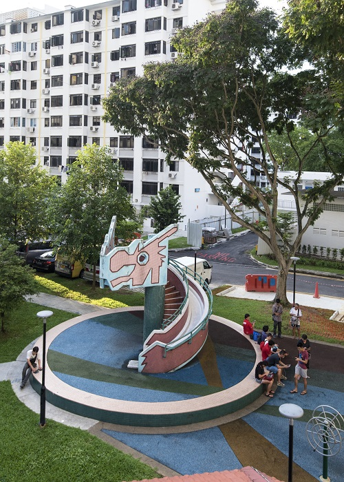 "MACPHERSON -  A ""mini dragon"" playground still sits in the MacPherson estate beside Block 53 Pipit Road"