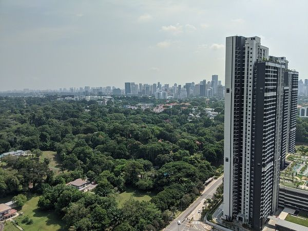 In addition to its excellent architecture, the flats in Dawson boast million-dollar views that look towards the Ridley Park GCB area. (Picture: Valerie Kor/EdgeProp Singapore)