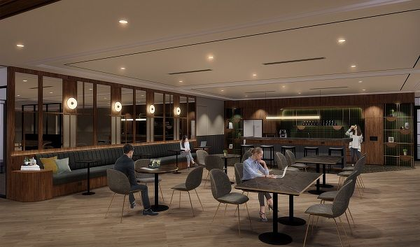 artist impression of the events and pantry area at JustCo at Shibuya Hikarie - EDGEPROP SINGAPORE