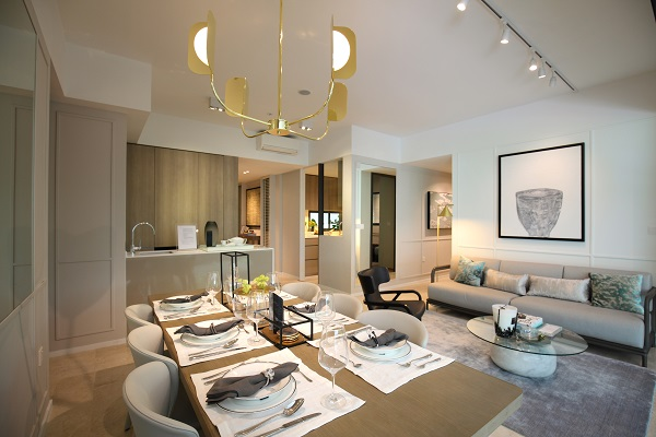The showflat of a four-bedroom unit at The Clement Canopy (Picture: Samuel Issac Chua/EdgeProp Singapore) - EDGEPROP SINGAPORE