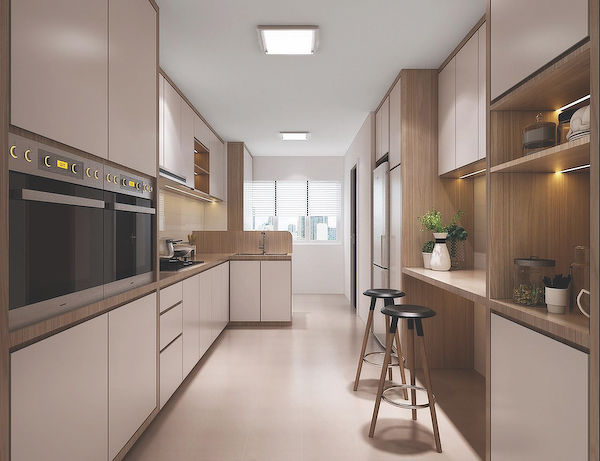 illustration of how the kitchen could be renovated - EDGEPROP SINGAPORE