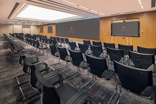 Located in Chater House, CENTRICITY offers flexible multipurpose event spaces that consist of seven rooms and a breakout area for hosting a wide variety of events and functions.