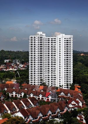 The three-bedroom unit at Flame Tree Park changed hands for $2.2 million ($1,381 psf) on March 26. (Picture: Samuel Isaac Chua/The Edge Singapore)