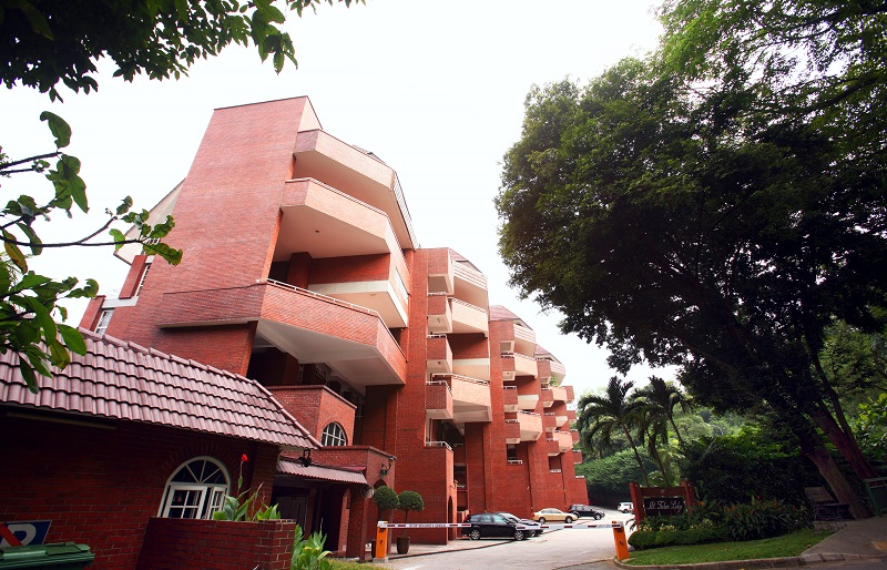 Mount Faber Lodge has a red-brick facade (Picture: SRI)