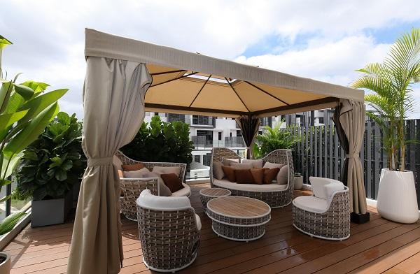 The Courtyard Concept highlights outdoor spaces such as its spacious verandas.