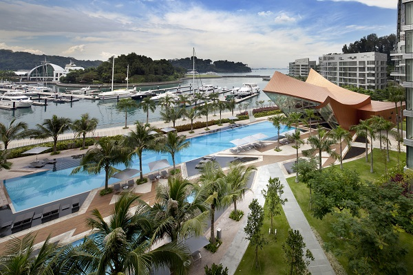 Reflections at Keppel Bay's dramatic curved-roof clubhouse was designed by Daniel Libeskind as the social hub for residents (List Sotheby)