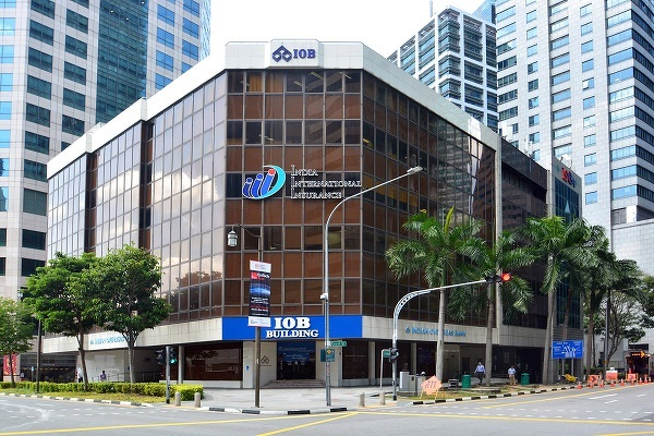IOB Building sits on a 9,599 sq ft plot that is zoned 'Commercial' with a gross plot ratio of 12.6 (Picture: Knight Frank Singapore)
