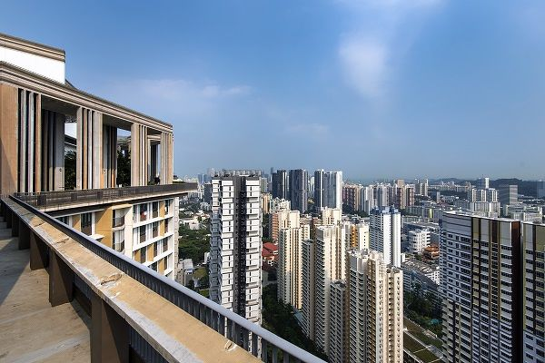 """Christine Sun, head of research & consultancy at OrangeTee: """"Past epidemics had little impact on the demand and prices of HDB resale flats. Moreover, it is still early days to adjust our original projections."""" (Picture: The view from Skyville @ Dawson towards Alexandra Road. Albert Chua/The Edge Singapore)"""
