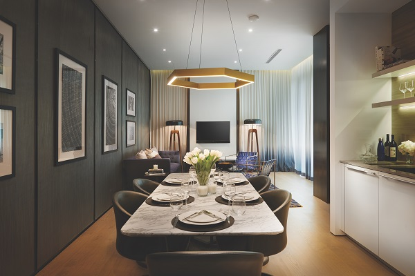 KSK Land - The residences of 8 Conlay comprise one- to three-bedroom units of 700 to 1,300 sq ft