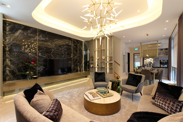 The living room of the showflat showcasing the Courtyard concept. Bukit Sembawang will also offer two flexible payment schemes as part of this sales phase.