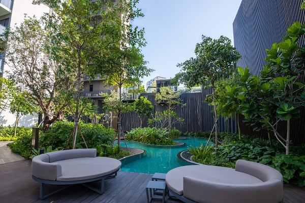 THE CLEMENT CANOPY - Several connected leisure pools between the blocks highlight the lush landscape (Picture: Dragages Singapore) - EDGEPROP SINGAPORE