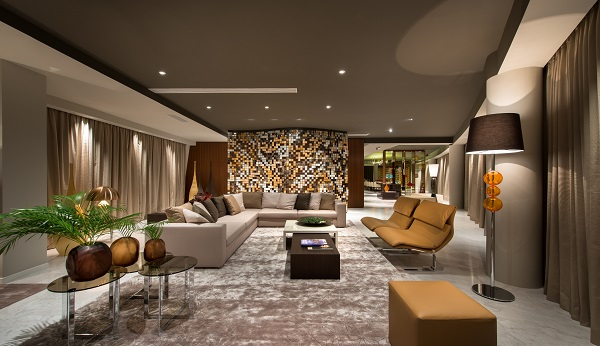 The interiors of the penthouse were designed by Italian furniture and design company Saporiti Italia (Pictures: List Sotheby)
