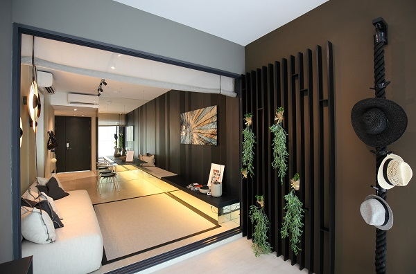 """The showflat of a two-bedroom unit at The Clement Canopy. At least 65% of the total constructed floor area was built using """"Lego-style"""" modular construction (Picture: Samuel Issac Chua/EdgeProp Singapore) - EDGEPROP SINGAPORE"""