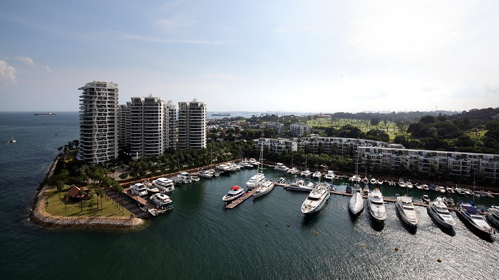 EDGEPROP SINGAPORE -  The view of Sentosa Cove towards Cape Royale. Some expats are renting the swimming pools of bungalows in the enclave, without the actual house. (Picture: Samuel Isaac Chua/The Edge Singapore)