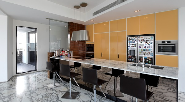 THE SAIL @ MARINA BAY - The open kitchen of the penthouse on the 69th floor of The Sail - EDGEPROP SINGAPORE