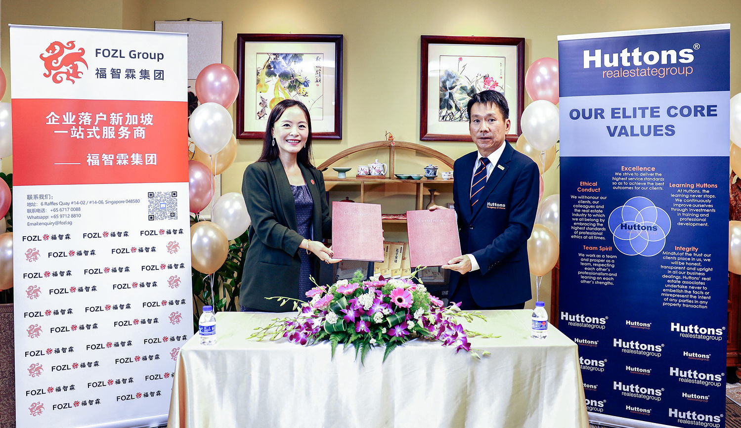 Huttons-announces-strategic-cooperation-with-FOZL - EDGEPROP SINGAPORE