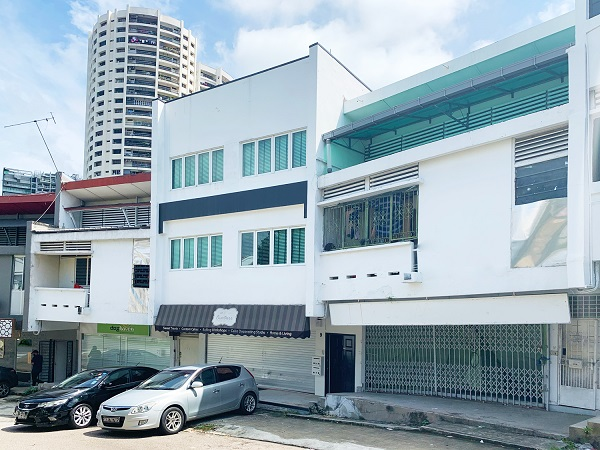 The three shophouses on Jasmine Road can be purchased collectively or separately. (Picture: Colliers International)