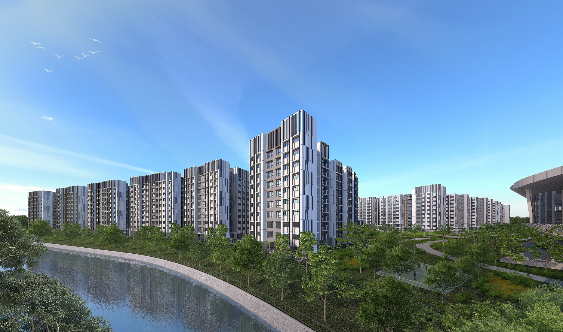 Canberra Vista is conveniently located next to Canberra MRT station and across the road from Canberra Plaza, the upcoming neighbourhood centre. (Picture: HDB)