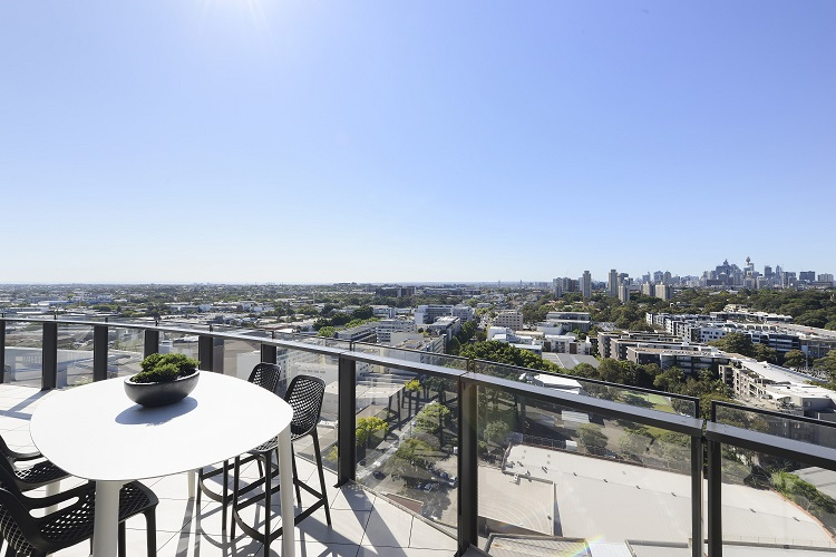 The development, which is already completed, boasts uninterrupted views of Sydney and the cityskyline.