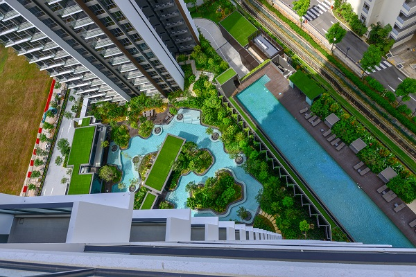 THE CLEMENT CANOPY - The ground floor pool meanders around the lush plants and trees (Picture: Dragages Singapore) - EDGEPROP SINGAPORE