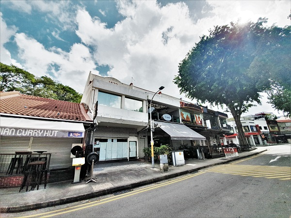 The Holland Village shophouse comes with adjacent front and rear land parcels (Picture: C&W)