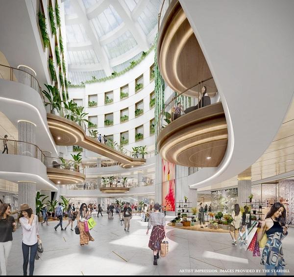 An artist impression of the new central atrium