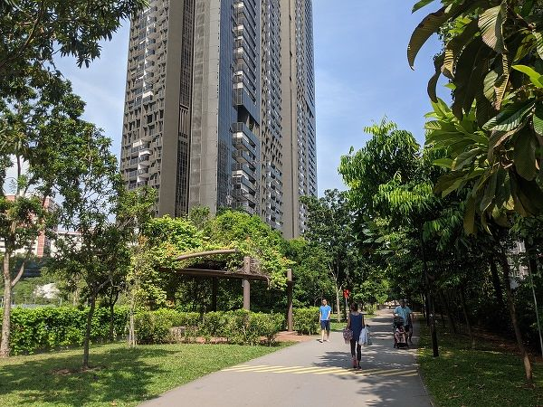 The Alexandra Canal Linear Park runs beside the flats at Dawson, and links Commonwealth Avenue to Tanglin Road. (Picture: Valerie Kor/EdgeProp Singapore)