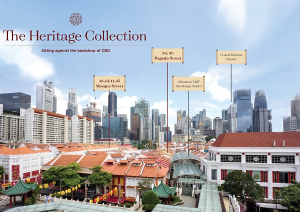 The portfolio of shophouses are on the market for $141 mil (Picture: Savills) - EDGEPROP SINGAPORE